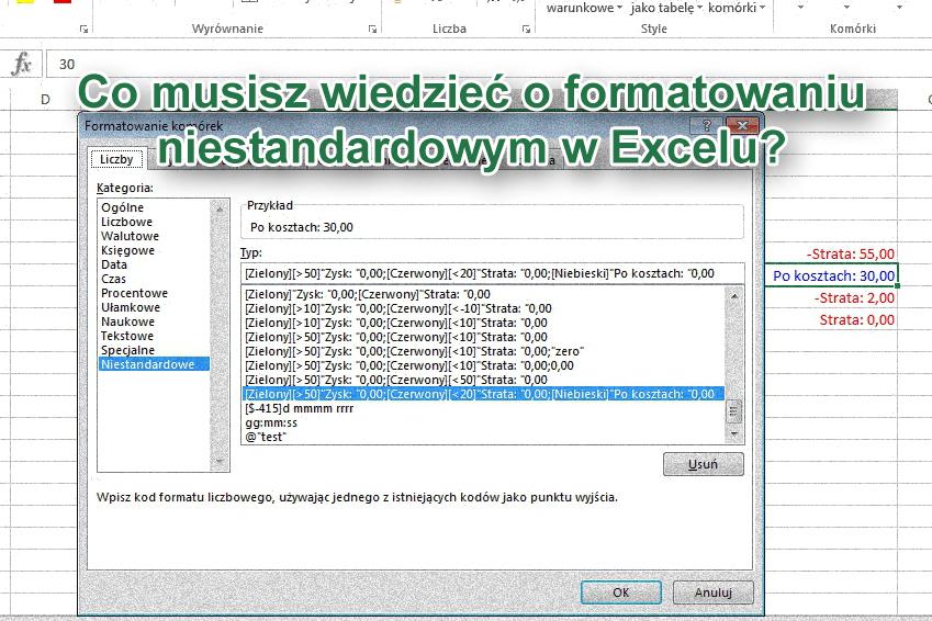 Co musisz wiedzieć o formatowaniu niestandardowym w Excelu?
