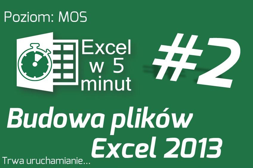 Budowa plików Excela 2013 | Excel w 5 minut #2
