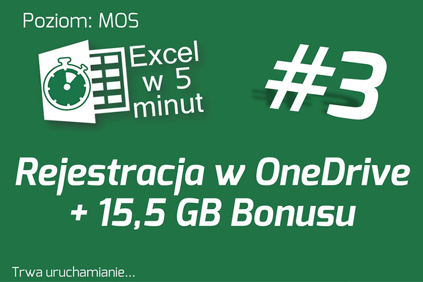 Rejestracja konta OneDrive + bonus 15,5 GB powierzchni | Excel w 5 minut #3